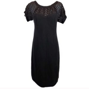 Rebecca Taylor Ponte Black Dress